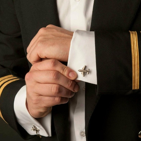Airplane Cufflinks // Mens Cufflinks // 3D Printed Cufflinks   Etsy