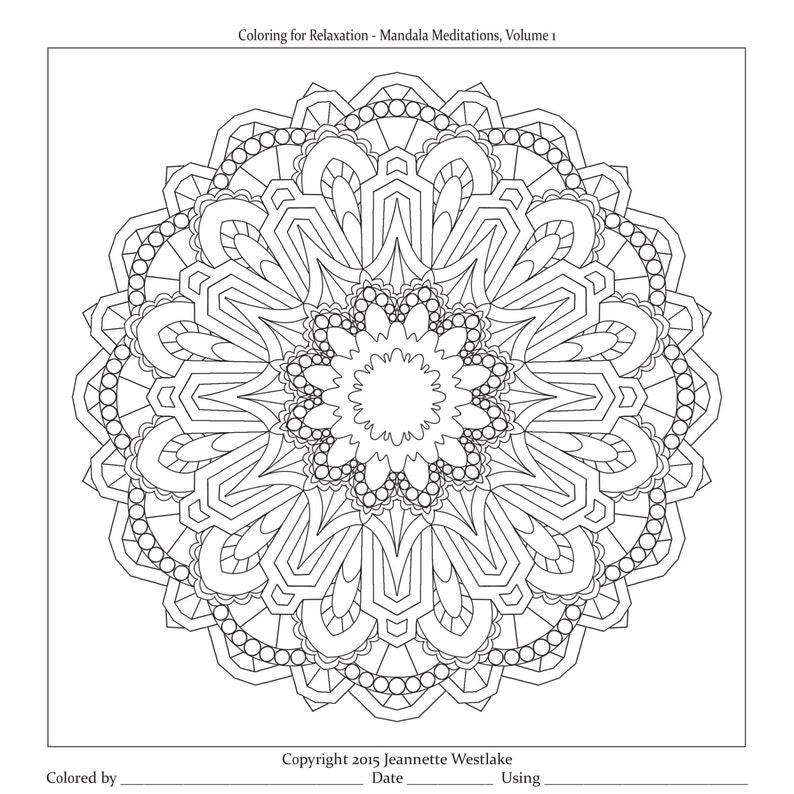 Mandala Meditations Art Deco Coloring pages