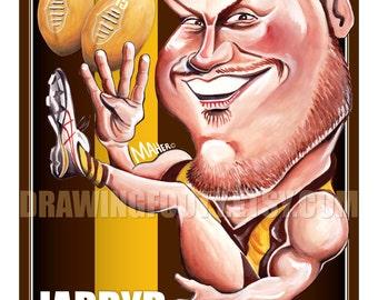 Jarryd Roughead Footy Hero Poster - Hawthorn Football Club