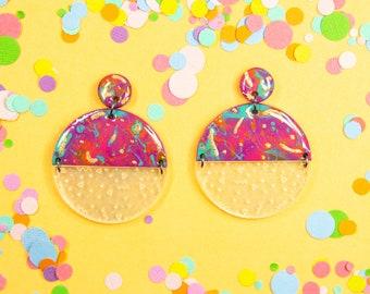 Tropicana Funfetti Dangle Earrings