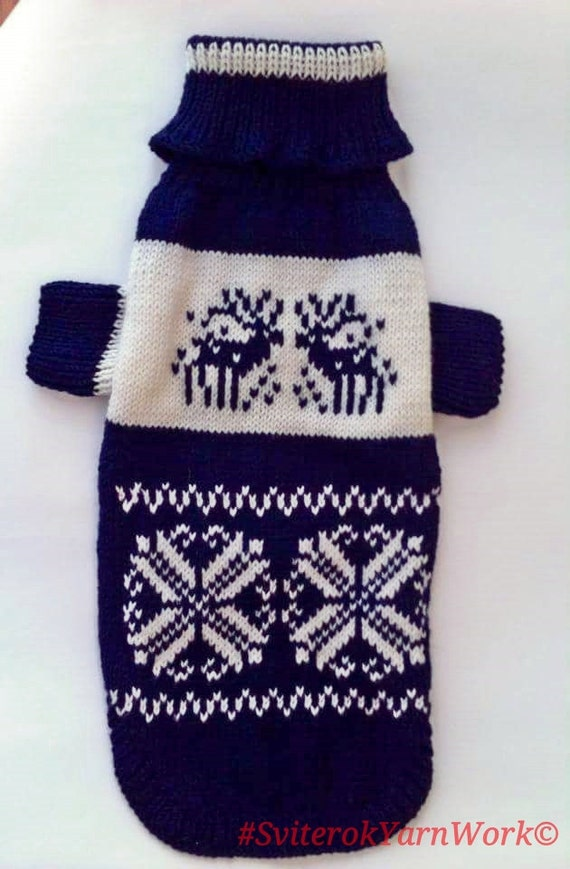 Deep Dark Blue Pattern Sweater For Big Dog Big Dog Sweater Etsy