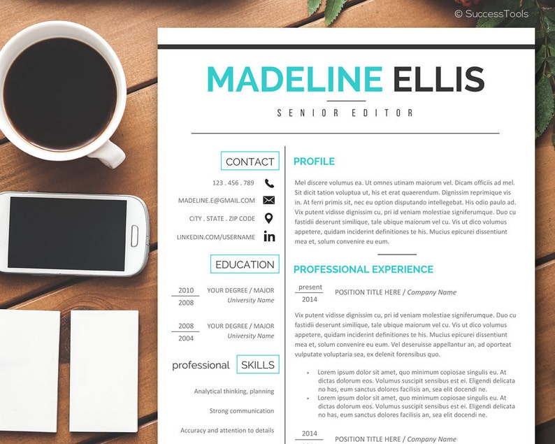 Cover Letter For Medical Istant   Resume And Cover Letter Template Resume Instant Download Etsy
