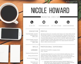 Modern Resume Template / Resume Template Instant Download for MS Word / Resume Template Word / Resume package