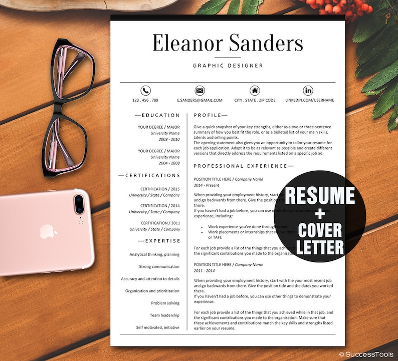 Classy Resume Template Modern For MS