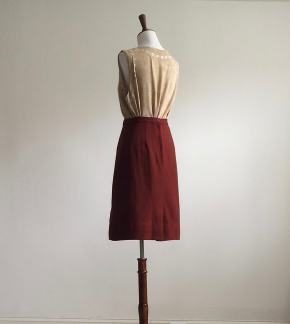 Rust wool skirt - image 5