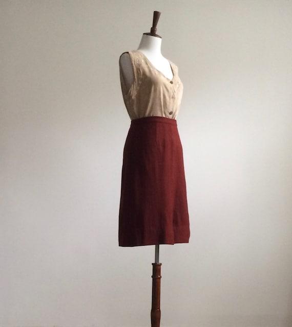 Rust wool skirt - image 3
