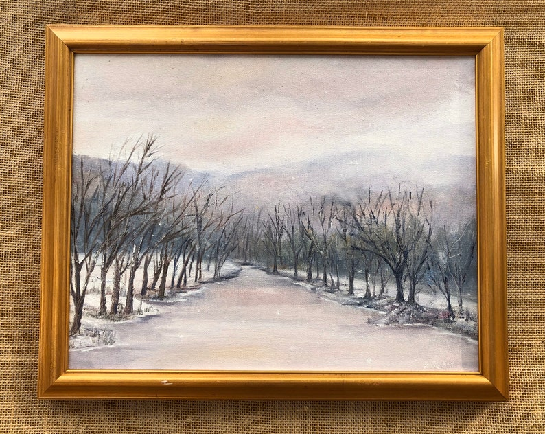 Cold River I  Original Oil Painting. image 0