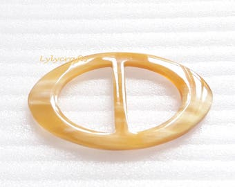 Stylish Scarf ring in natural Buffalo horn, various colors [SR-004]