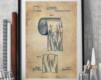 Bathroom decor toilet paper toilet patent patent group set toilet paper art printtoilet paper rolltoilet paper patentbathroom vintage artbathroom blueprintbath printbathroom patent prints p11 malvernweather Images