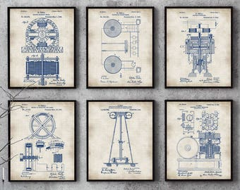 Dna print art science art human dna set of 4 prints patent tesla set of 6 tesla print tesla posterpatent print nikola malvernweather Choice Image