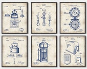 Kitchen Inventions set of 6 prints, Kitchen wall art, kitchen patent, kitchen art, kitchen patent print, Kitchen patent art, set of 6 P318