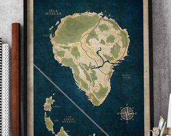Jurassic park map | Etsy
