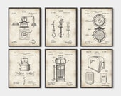 Kitchen Inventions set of 6 prints, Kitchen wall art, kitchen patent, kitchen art, kitchen patent print, Kitchen patent art, set of 6