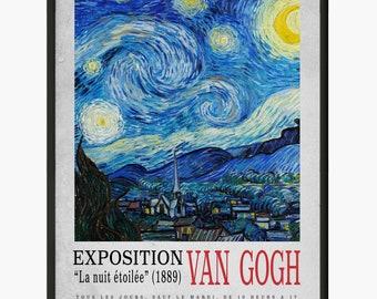 Van Gogh/'s Bedroom Van Gogh 1888 Art Canvas//Poster Print A3//A2//A1