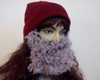 Pink Curly Women Beard Hat 31ca6b3bc