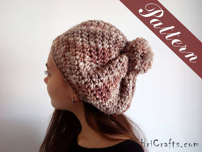 Mosaic Tiles Crochet Beanie Pattern only!!