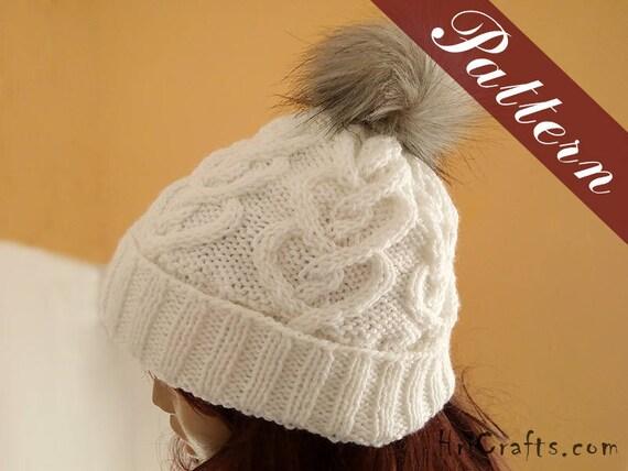 Knitting Pattern Hat Winter Hat Women Pattern Knit Hat Etsy