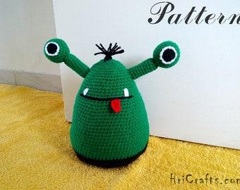 Monster door stop crochet pattern, amigurumi pattern door stopper, doorstop, door wedge, doorstopper, housewarming, crochet monster tutorial