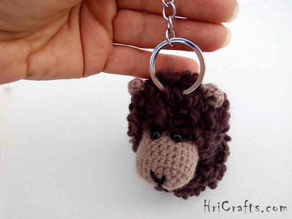 Braune Schafe Tasche Charme Schlüsselanhänger Rucksack Etsy