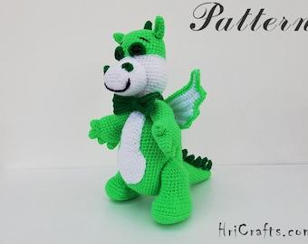 Dragon crochet toy pattern, dinosaur, crochet dino, crochet pattern, little dragon amigurumi, cute dragon amigurumi crochet dinosaur pattern