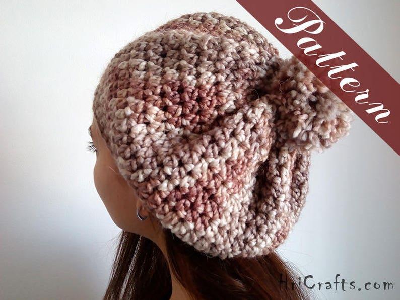 Pattern pompom hat Pattern ladies hat Crochet pompom beret Crochet beret pattern Women beret Crochet hat pattern Hat crochet pattern