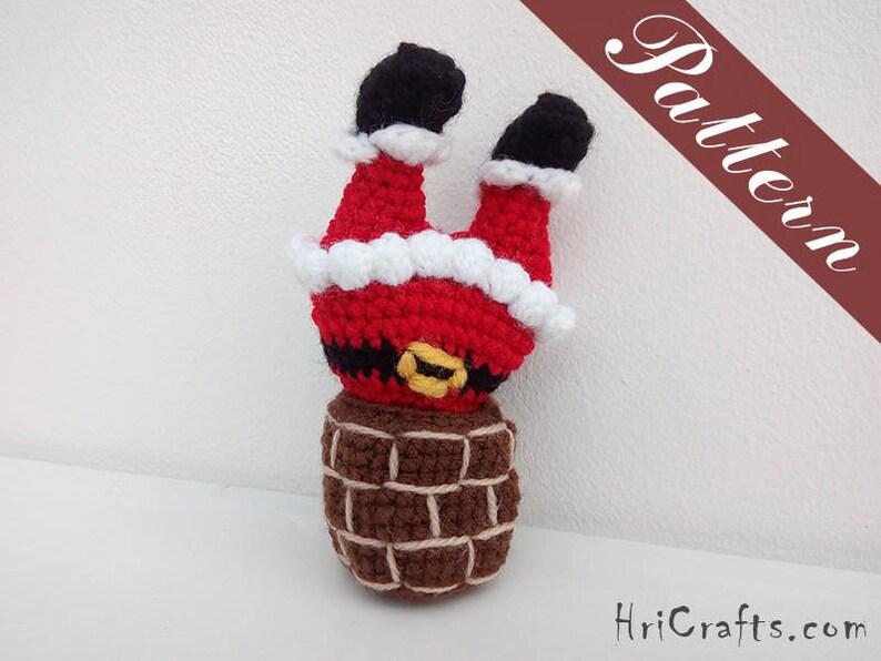 6ee8900918dd9 Crochet pattern Santa legs Santa in chimney DIY Christmas