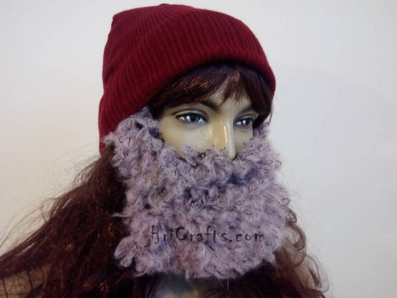 3a0e7d28c0c Pink Curly Women Beard Hat Women s hat Lady hat Hand