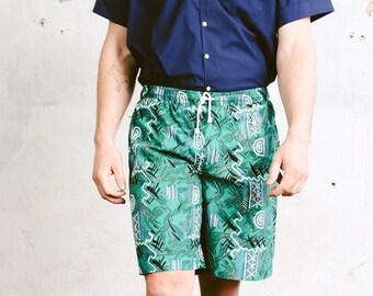 bd9bc5ff97 Men's Printed Boardshorts . Vintage Aztec Print Summer Shorts 90s Swim  Shorts Surfer Shorts Vacation Shorts Beachwear . size Large L