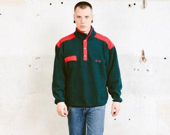 Peak Performance Fleece Jumper . Vintage Men's Green Sweater Soft Pullover Comfy Sweater Hipster Retro Jumper Activewear . size Large L