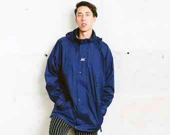 Helly Hansen Windbreaker Jacket . Men 90s Parka Jacket Rain Jacket Zip Up Autumn Coat Boyfriend Wear 90s Clothing . size Extra Large XL