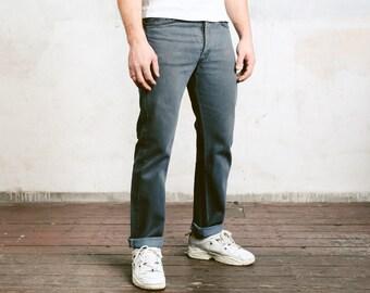 Grey Levis 501 Jeans . Vintage Levi Strauss 90s Jeans Unisex Denim Jeans 90s Hipster Jeans Button Fly Levis Jeans . Medium M