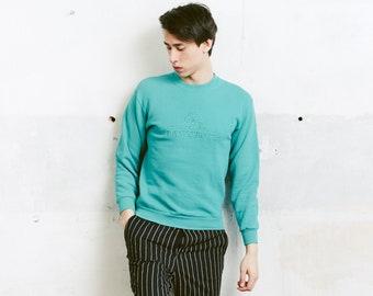 Men 90s Sweatshirt . Green Vintage Athleisure Sportswear 80s Golf Sweatshirt Green Sweatshirt Mens 90s Sports Jumper . size Small S