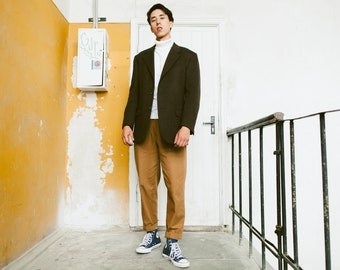 Vintage 90s MASSIMO DATTI Sport Coat . Mens Cashmere Blazer Patterned Brown Wool Blazer Autumn Jacket . size Medium