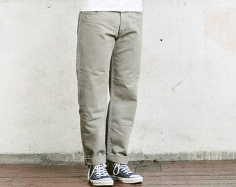 Grey Lee Jeans . Mens Denim Vintage Boyfriend Dad Jeans Distressed Zip Fly Jeans 90s Clothing . size W34 L34