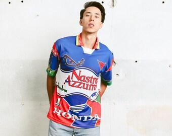 Men Football Shirt . HONDA T-shirt Sports Jersey Soccer Fan Shirt Atheleisure Shirt Activewear Boyfriend Gift . size Medium