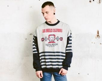 Men 90s Sweatshirt . Vintage Sports Sweater 1990s Slouchy Sweatshirt College Style Streetwear Boyfriend Wear 90s Clothing . size Extra Large