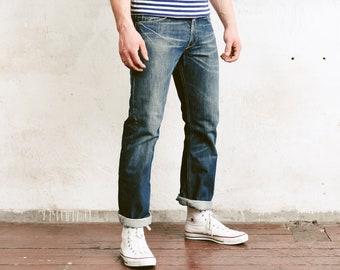Levis Denim Pants . Vintage Jeans Medium Wash Blue Denim Pants Dad Jeans Casual Trousers Faded Jeans . size Medium M