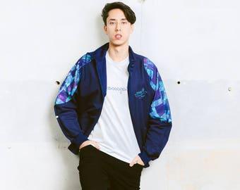 Mens Vintage Shell Jacket . Hipster 90s Mens Jacket Winter Jacket Outerwear Hooded Winter Coat 90s Men Clothing . size Large