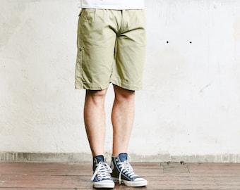 Men Chino Shorts . 90s Mens Short Pants Resort Wear Khaki Chinos Casual Summer Shorts Casual Bottoms Everyday Clothing . size Small S