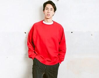 Vintage Reebok Sweatshirt . Men Sweatshirt Red Unisex 90s Sweater Boyfriend Gift Oldschool Activewear Hipster Outfit . size Extra Large
