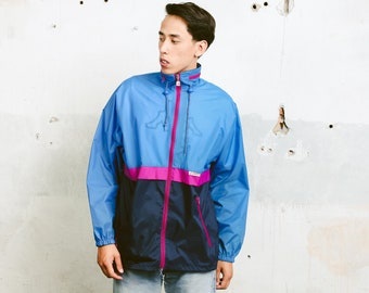 90 Bold Rain Jacket . Vintage Men's Jacket Windbreaker Festival Jacket Rave Jacket Lightweight Jacket Unisex Spring Jacket . size Small S