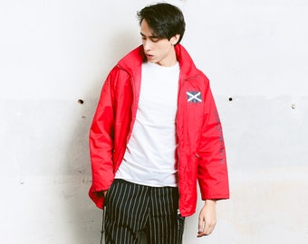 Vintage Rain Jacket . Red Jacket 90s SCAPA SPORTS Mens Outdoors Jacket Lightweight Jacket Unisex Spring Jacket . size Medium M