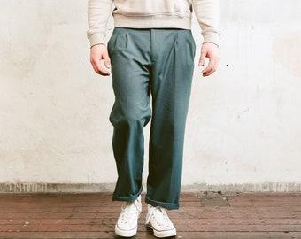 Vintage Grey Chino Pants . Men 90s Pants Straight Leg Dad Pants Oldschool Smart Casual Pants Nerd Everyday Clothing Dad Gift . size 50 Large