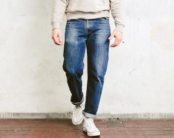 Vintage Levis 751 Jeans . Classic LEVI'S Medium Wash Blue Jeans 90s Denim Pants Boyfriend Jeans Casual Trousers Zip Fly Jeans . size W33 L32