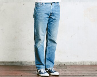 Levis 615 02 Jeans . Vintage Levis Orange Tab 90s Tapered Jeans High Waist Pants 90s Clothing Straight Leg Classic 90s Jeans . W33