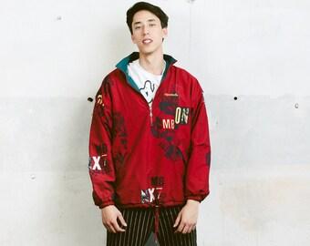 Reebok Men's Snowboarding Jacket . Men's 90s Jacket Ski Jacket 90s Anorak Jacket Hipster Boyfriend Wear Outerwear Activewear . size Large L