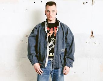 Grey Spring Jacket . 90s Jacket Unisex 1990s Outerwear Men Clothing Bomber Jacket Grey Flight Jacket . size Large L