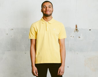 90s KAPPA Polo Shirt . Vintage Kappa Mens Yellow T-Shirt Minimalist Retro 90s Tee Shirt Activewear Mens Golf T-Shirt Menswear . size Medium