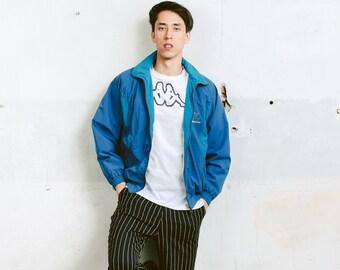 Vintage Blue Shell Jacket . Mens 90s Jacket Zip Up Windbreaker 90s Jacket Sports Jacket Athleisure Jacket 90s Clothing . size Medium M