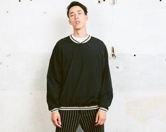 Mens 90s Black LEE Sweater . Shellsuit Shell Jacket Windbreaker Sweatshirt Vintage Men Golf Sweater Athelisure Activewear . size Large